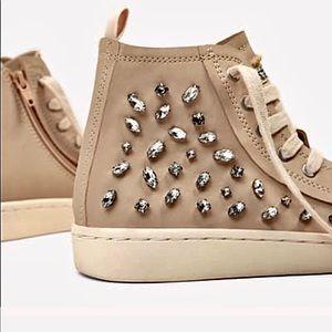 Zara blinged sneakers